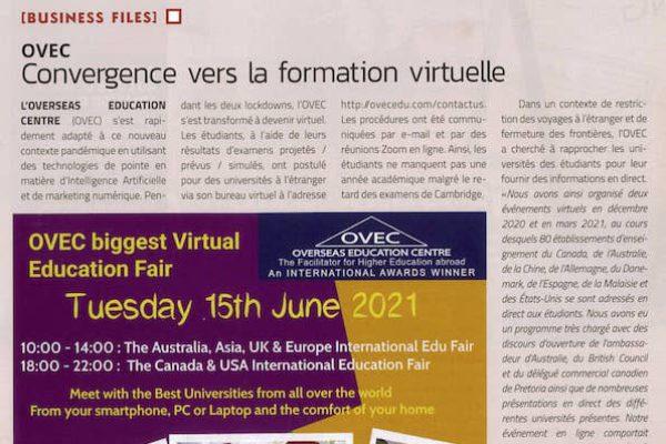 Business Magazine – OVEC converge vers la formation virtuelle
