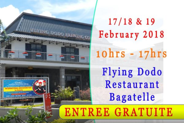 Upcoming Education Fair Feb 17-19th 2018 – DO NOT MISS OUT!
