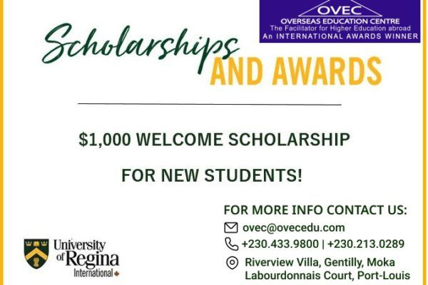 University Of Regina – OVEC special scholarship award