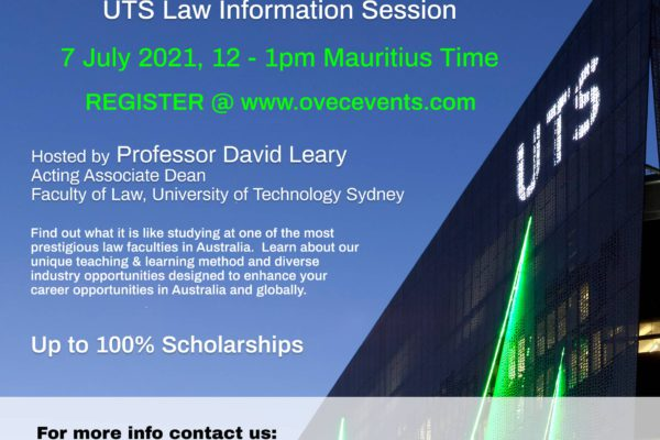 UTS Law Information Session 7th July 2021