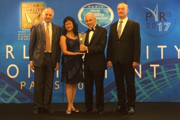 OVEC Wins World Quality Commitment Award Nov 2017
