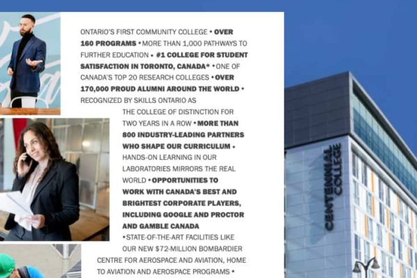 Centennial College – Application fee waiver and entrance scholarship