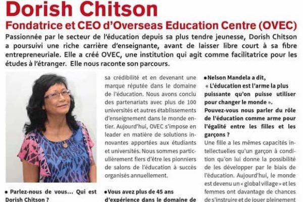 Spotlight on Dorish Chitson, CEO/Founder OVEC – L'express des femmes