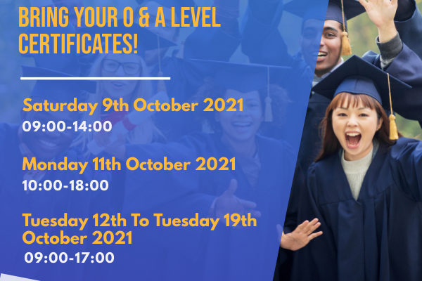 Open Days at OVEC – EXTENDED! FREE on the spot application to great Universities, Colleges & Polytechnics