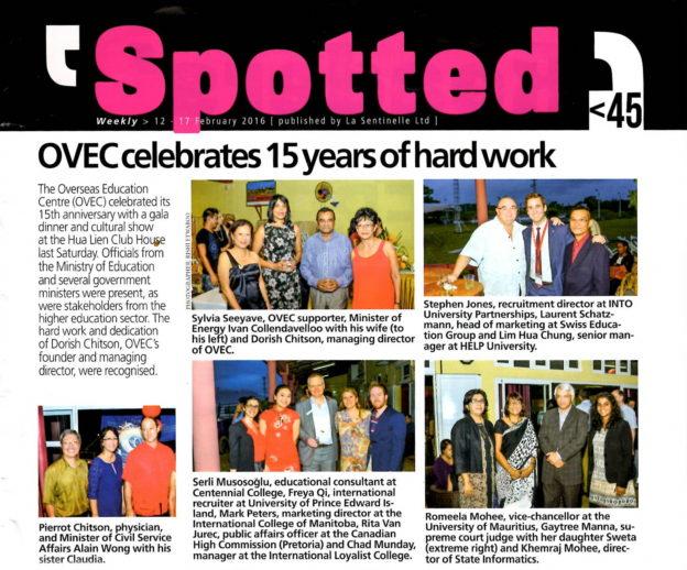 OVEC celebrates 15 years of hard work